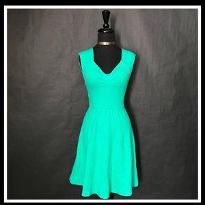 Green Anthropologie dress